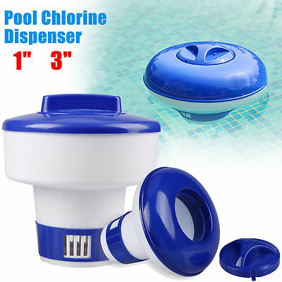 "Pool Spa 1"" or 3"" Chlorine Bromine Chemical Tablet Tabs Floater / Dispenser S M"