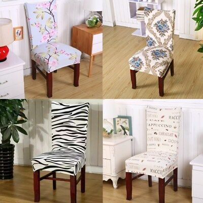 1Pcs Dining Room Chair Anti Mite Chair Cover Seat Cover Decor Printing Pattern