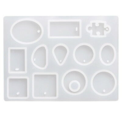 12 Silicone Mould DIY Resin Round Making Necklace Jewelry Mold Craft Pendant
