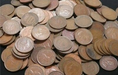 Bulk Lot of 500 Australian Halfpennies (2.83kg)