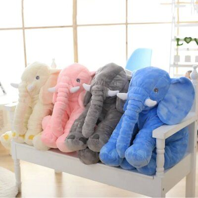 Stuffed Animal Cushion Kids Baby Sleeping Soft Pillow Toy Cute Elephant LOT A!