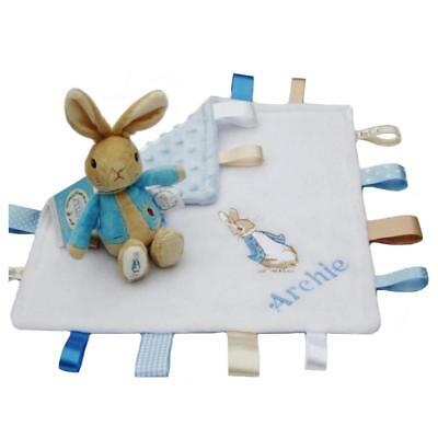 Peter Rabbit Soft Rattle &/or Matching Taggie Comfort Blanket  Unique Baby Gift!