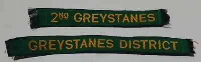 Two Greystanes Name Tapes