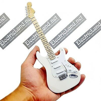 Mini Guitar JIMI HENDRIX stratocaster olympic white woodstock 69 miniature rock