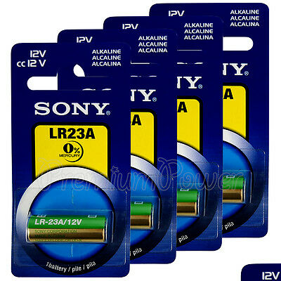 4 x SONY Alkaline LR23A batteries 12V A23 MN21 K23A 3LR50 LRV08 Alarm Calculator