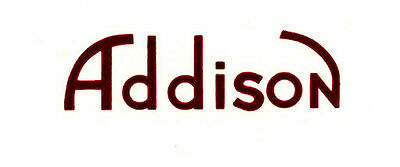 Red Addison CATALIN Radio Decal, Also for Bakelite and Wood Sets