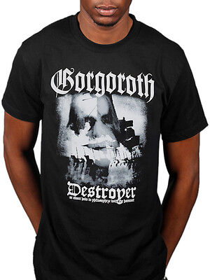 Official Gorgoroth Destroyer T-Shirt Pentagram True Black Metal Antichrist Band