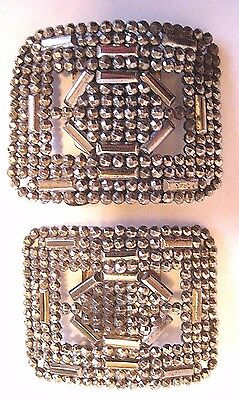 Antique Cut Steel Shoe Clips