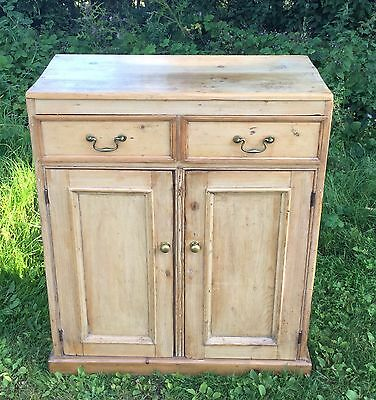 Antique Pine Two Door Cupboard/sideboard