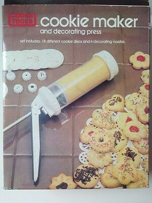 Cooks Tools Cookie Maker And Decorating  Press vintage 1983