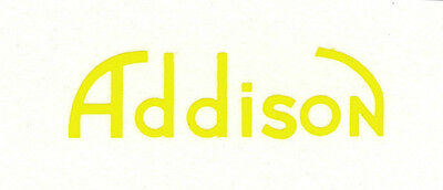 Yellow Addison CATALIN Radio Decal, Also for Bakelite and Wood Sets