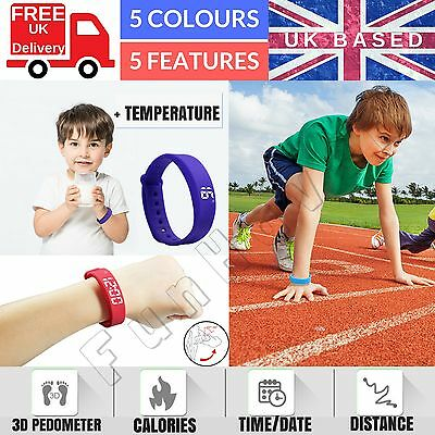 Family Kids Activity Tracker Bracelet Pedometer Fitness Band Watch Step Counter
