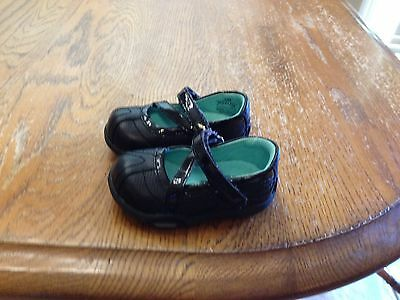 Stride Rite Toddler Girls Shoes Size 3M -Black Leather -Stride Rite Shoes!
