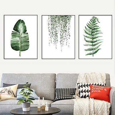 Modern Art Nordic Green Plant Leaf Canvas Poster Print Wall Picture Home Decor