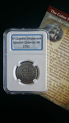 1732 Philip V Spanish Silver CROSS 2 REALES - Pistareen!  PRICE DROP!!!
