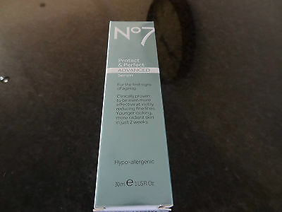 BOOTS No7 PROTECT AND & PERFECT  ADVANCED SERUM 30ml  BRAND NEW IN BOXES.