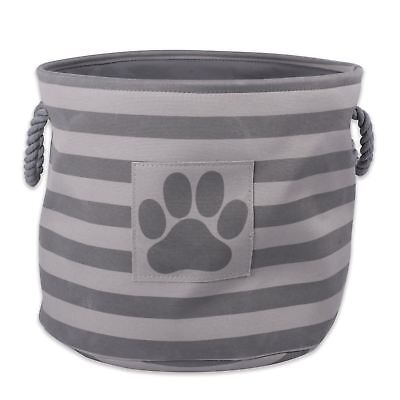 DII Bone Dry Pet Toy and Accessory Round Storage Basket for Home Décor Accessory