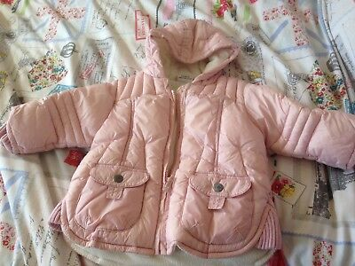 Girls Pink Coat, Age 6-9 Months