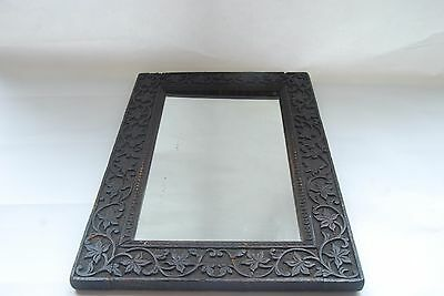 antique carved indian wall mirror