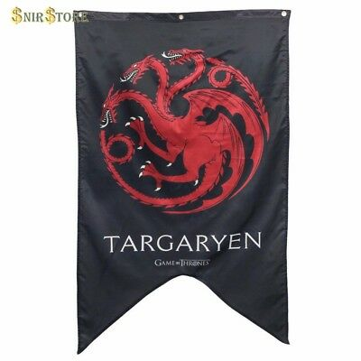 Game of Thrones House Targaryen Sigil Banner Dragon Flag Fabric Poster Wall Home