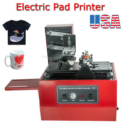 Electric Pad Printer Printing Machine T-Shirt INKPRINT PVC MUG Ballpen 15 x 30mm