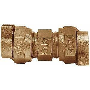 """AY McDonald Brass Ford Coupling 1"""" CTS x 3/4"""" CTS Pack Joint C44-34-NL FAST! ED6"""