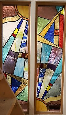 Two Stained Glass Panels Professionally Made
