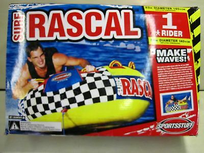 "New 53-1320 Sportstuff Surf Rascal Towable Single Rider Water Tube 56"" #B403"