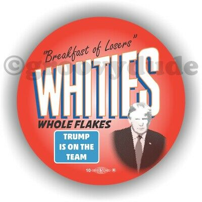 2 Anti President Donald Trump Whities Whole Flakes Losers Pin Pinback Button Lot