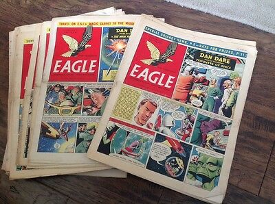 EAGLE COMICS, - 36 Of Them From 1955 ! Please Take A Look - Dan Dare