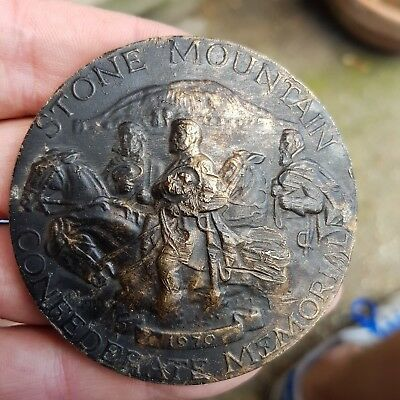 metal detecting find a rare stone mountain 1970 memorial medal