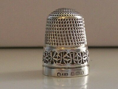 James Swann Solid Silver Thimble Hallmarked Birmingham probably Late 1800s