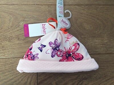 New Ted Baker Baby Girls Floral Pink Warm Hat 18-24 Months *THIS SEASON*