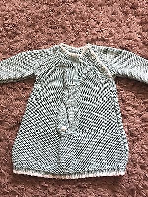 Next Baby Girl Knitted Bunny Dress Up To 3 Months Worn Once