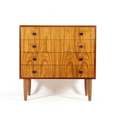 Retro Vintage Danish Scandinavian Rosewood Low Chest of Drawers 1950s 60s 70s