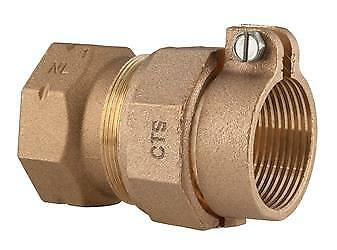 """Ford Fitting Brass 1 1/2"""" FPT x 1 1/2 PVC Coupling Adapter Pack Joint C17-66 F53"""