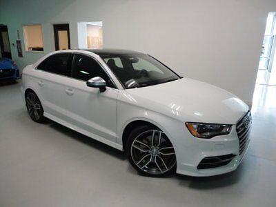 2016 Audi S3 Premium Plus Sedan 4-Door 19 inch Performance Package S Sport Seat Package Technology Package Red Calipers