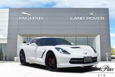 2015 Chevrolet Corvette Z51 Coupe 2-Door 3LT Z51 Heads Up Display Gloss Black Wheels Navigation Red Calipers Automatic