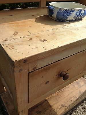 Antique Victorian scrubbed and waxed pot-board pine dresser