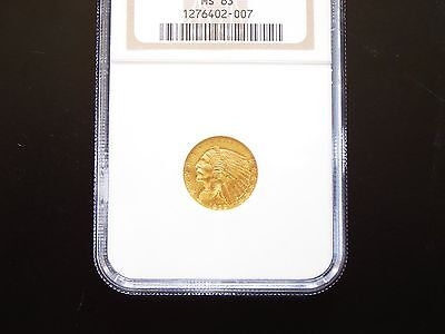 1929 $2.5 INDIAN QUARTER EAGLE GOLD COIN NGC Graded MS63 BEAUTY!