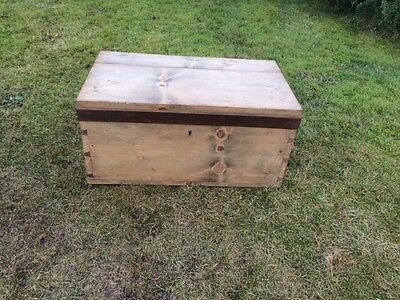 Vintage Pine Trunk / Box / Chest
