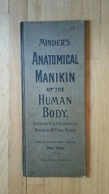 Antique Dr. Minders Anatomical Manikin of the human body book