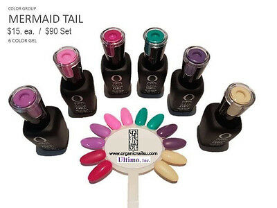 Organic Nails Color Gel MERMAID TAIL Color Group Set