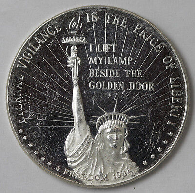 1986 Statue Of Liberty Freedom .999 Fine Silver Troy Ounce