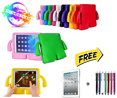 3D Kids Cute Shockproof EVA Foam Stand Cover Case For iPad 5 Air