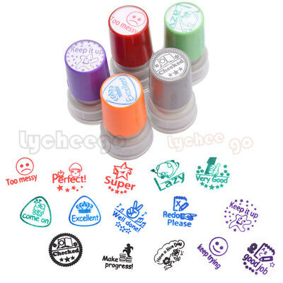 Teacher Stamp Self Inking Comment Homework Rating Praise School Students Gift