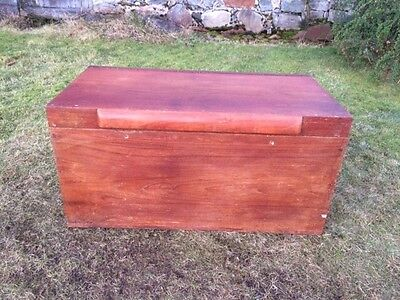 Vintage Hardwood Chest / Trunk / Box