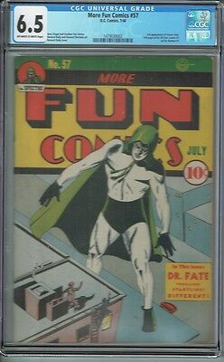 Cgc 6.5 More Fun #57 Ow/white Pages Classic Spectre Cover 3Rd Dr Fate Appearance