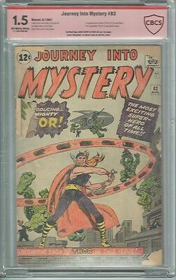 Cbcs 1.5 Journey Into Mystery #83 Verified Ss Jack Kirby & Stan Lee Thor Not Cgc