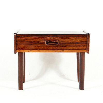 Retro Vintage Danish Modern Rosewood Bedside Table Cabinet Chest of Drawers 60s